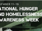 National Hunger & Homelessness Awareness Week 2017