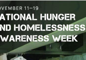 National Hunger & Homelessness Awareness Week 2017